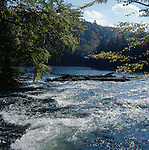 Rapids on Crab River below Nunikani Dam, Haliburton, Ontario, Canada