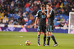 Real Sociedad's Sergio Canales and Asier Illarramendi during La Liga match between Real Madrid and Real Sociedad at Santiago Bernabeu Stadium in Madrid, Spain. January 29, 2017. (ALTERPHOTOS/BorjaB.Hojas)