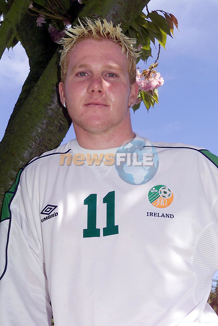 Sean Thornton at his home in drogheda after signing for Sunderland..Picture Fran Caffrey Newsfile...This Picture is sent to you by:..Newsfile Ltd.The View, Millmount Abbey, Drogheda, Co Louth, Ireland..Tel: +353419871240.Fax: +353419871260.GSM: +353862500958.ISDN: +353419871010.email: pictures@newsfile.ie.www.newsfile.ie