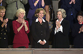 Washington, DC - September 20, 2001 -- Lisa Beamer, widow of Todd Beamer, who died on United Airline Flight 93 that crashed in Pennsylvnia is applauded during a Joint Session of Congress after being recognized by President Bush during his address..Credit: Ron Sachs / CNP