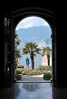 Italy, Veneto, Lake Garda, Malcesine: garden of Palazzo dei Capitani or Miniscalchi-Palace, built by the Scaliger between 1200 and 1300 became the ownership of the Miniscalchi family on 18th December 1473 | Italien, Venetien, Gardasee, Malcesine: Garten des Palazzo dei Capitani oder Miniscalchi-Palast, der von den Skaligern zwischen 1200 und 1300 erbaute Palast ging am 18. Dezember 1473 in den Besitz der Familie Miniscalchi ueber