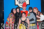 FANCY DRESS: Ringing in the new year on the streets of Ballybunion with a splash of colour, were Grainne O'Rourke, Tralee, Carol Lynch, Lisselton, Giles Lean, Causeway, Aoife Mulvihill, Ballybunion, Martin Foley and Siobha?n Devaney, Lisselton.   Copyright Kerry's Eye 2008