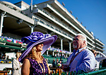 November 3, 2018 : A man and woman stand in the sun on Breeders Cup World Championships Saturday at Churchill Downs on November 3, 2018 in Louisville, Kentucky. Jamey Price/Eclipse Sportswire/CSM