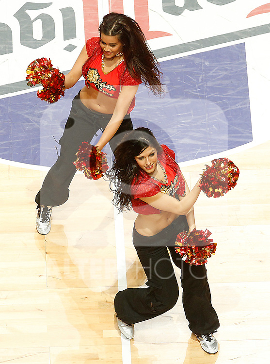ACB's cheerleaders during Spanish Basketball King's Cup match.February 12,2011. (ALTERPHOTOS/Acero)