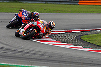 3rd November 2019; Sepang Circuit, Sepang Malaysia; MotoGP Malaysia, Race Day;  Jorge Lorenzo ahead of Hafizh Syahrin during the race - Editorial Use