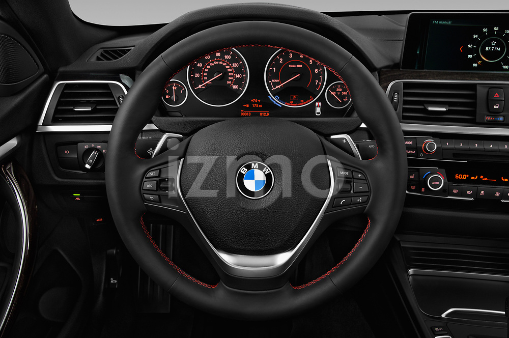 Car pictures of steering wheel view of a 2019 BMW 4 Series 430i Gran Coupe 5 Door Hatchback