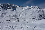 Zursersee and Seekopf Chairlifts at Zurs Ski Area from Lech, St Anton, Austria