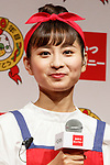 Chinese singer Long Mengrou, Oyatsu special ambassador, attends a news conference to launch a new TV commercial for Baby-Star Ramen on August 6, 2018, Tokyo, Japan. Oyatsu Company announced the new commercial to celebrate 60 years of sales for Baby-Star Ramen in the Japanese market. The new TV commercial will be first shown on August 10. (Photo by Rodrigo Reyes Marin/AFLO)