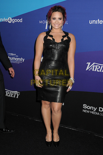 27 February 2014 - Culver City, California - Demi Lovato. Unite4:good and Variety Magazine Present &quot;Unite4:humanity&quot; held at Sony Pictures Studios. <br /> CAP/ADM/BP<br /> &copy;Byron Purvis/AdMedia/Capital Pictures