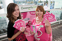 ASDA's Forest Town superstore ran a fun event in aid of its 'Tickled Pink' campaign. Pictured are Charlie Horobin (left) and Community Colleague Sue Derbyshire