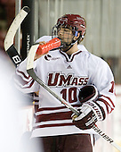 Eric Filou (UMass - 10) - Sweden's Under-20 team played its last game on this Massachusetts tour versus the University of Massachusetts-Amherst Minutemen losing 5-1 on Saturday, November 6, 2010, at the Mullins Center in Amherst, Massachusetts.