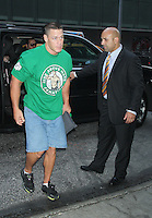 June 20, 2012 John Cena WWE Superstar meets Jonny Littman at Good Morning America in New York City. © RW/MediaPunch Inc. NORTEPHOTO<br />