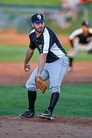Dakota Behr (37) of the Grand Junction Rockies delivers a pitch to the plate against the Ogden Raptors in Pioneer League action at Lindquist Field on June 20, 2016 in Ogden, Utah. The Rockies defeated the Raptors 5-2. (Stephen Smith/Four Seam Images)