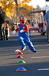 Jacob Harmon, 6, runs an obstacle course at the Carson City Boo-nanza event, in Carson City, Nev., on Tuesday, Oct. 30, 2018. <br /> Photo by Cathleen Allison/Nevada Momentum