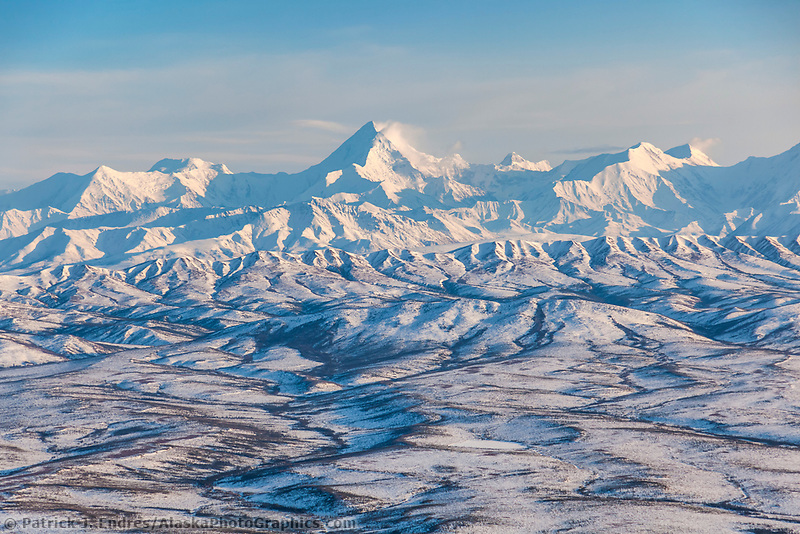 Mount Hayes, 13,832 feet (4,216 m), is the highest mountain in the eastern Alaska Range. view looking southwest.