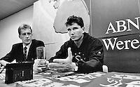 1997, ABNAMROWTT, persconferentie, Richard Krajicek met naast hem Jan van Vliet