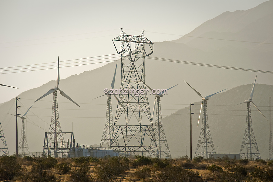 San Gorgonio Pass, Coachella Valley, Wind, Turbine, turbines, California, Palm Springs, Wind, Turbines, Green, Energy, field, farm North Palm Springs, CA,