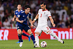 Ehsan Haji Safi of Iran (R) fights for the ball with Shibasaki Gaku of Japan (L) during the AFC Asian Cup UAE 2019 Semi Finals match between I.R. Iran (IRN) and Japan (JPN) at Hazza Bin Zayed Stadium  on 28 January 2019 in Al Alin, United Arab Emirates. Photo by Marcio Rodrigo Machado / Power Sport Images