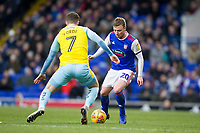 Freddie Sears of Ipswich Town seeking a way past Anthony Forde of Rotherham United during Ipswich Town vs Rotherham United, Sky Bet EFL Championship Football at Portman Road on 12th January 2019