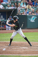 Great Falls Voyagers right fielder Logan Sowers (29) at bat during a Pioneer League against the Ogden Raptors at Lindquist Field on August 23, 2018 in Ogden, Utah. The Ogden Raptors defeated the Great Falls Voyagers by a score of 8-7. (Zachary Lucy/Four Seam Images)