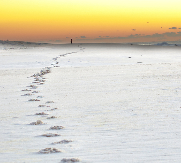 Footsteps to the Sunrise, Fire Island, New York