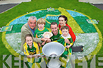 GARDEN CREST: Winner of the Kerry's Eye/Radio Kerry 'Kerry Colours Competition' Mikey Wall from Lixnaw who is pictured with Jade Cooney, Jim O'Gorman (Sports Editor Kerry's Eye), Jack Sheehy, Mikey Wall, Treasa Murphy (Radio Kerry) and Cian Sheehy.   Copyright Kerry's Eye 2008