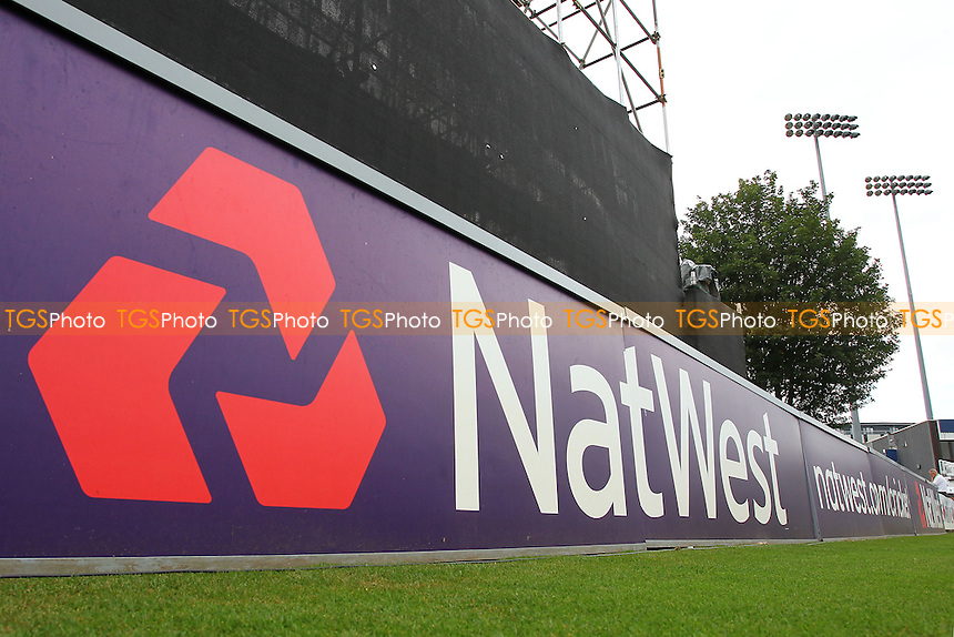 The NatWest logo ahead of Essex Eagles vs Glamorgan, NatWest T20 Blast Cricket at the Essex County Ground on 29th July 2016