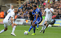 Cardiff City's Nathaniel Mendez-Laing is closed down <br /> <br /> Photographer Ian Cook/CameraSport<br /> <br /> The EFL Sky Bet Championship - Swansea City v Cardiff City - Sunday 27th October 2019 - Liberty Stadium - Swansea<br /> <br /> World Copyright © 2019 CameraSport. All rights reserved. 43 Linden Ave. Countesthorpe. Leicester. England. LE8 5PG - Tel: +44 (0) 116 277 4147 - admin@camerasport.com - www.camerasport.com