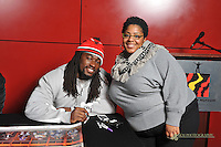 The Bea Gaddy Foundation food drive held at the Reginald F. Lewis Museum in Baltimore on Tuesday evening was hosted by Baltimore Ravens Line Backer, Dannell Ellerbe.The Bea Gaddy Foundation food drive held at the Reginald F. Lewis Museum in Baltimore on Tuesday evening was hosted by Baltimore Ravens Line Backer, Dannell Ellerbe.