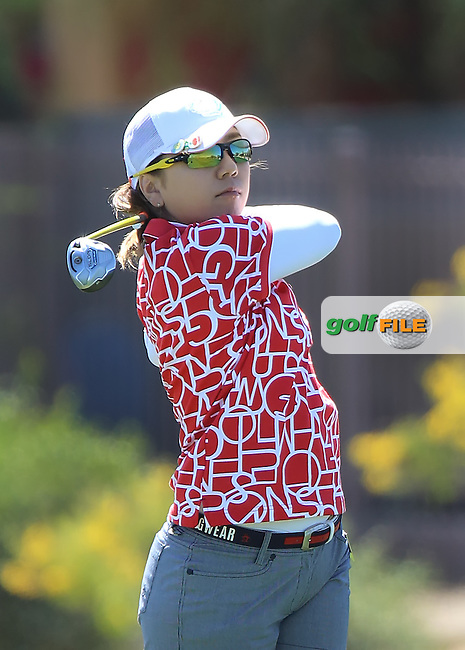 160319 Japan's Mika Miyazato during Saturday's Third Round of The Founder's Cup at The Wildfire Golf Club in Phoenix, Arizona. (photo credit : kenneth e. dennis/kendennisphoto.com)