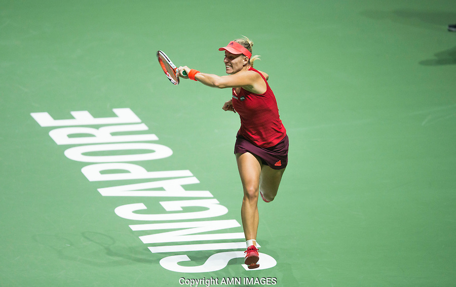 ANGELIQUE KERBER (GER)<br /> <br /> WTA FINALS, SINGAPORE INDOOR STADIUM, SINGAPORE SPORTS HUB, SINGAPORE, 2015