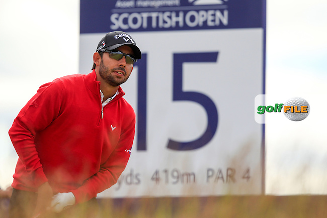 Pablo Larazabal (ESP) during the first round of the Aberdeen Asset Management Scottish Open 2016, Castle Stuart  Golf links, Inverness, Scotland. 07/07/2016.<br /> Picture Fran Caffrey / Golffile.ie<br /> <br /> All photo usage must carry mandatory copyright credit (&copy; Golffile | Fran Caffrey)