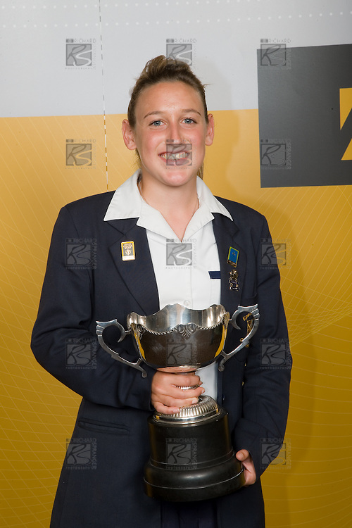 Sportswoman of the Year Analie Longo from Epsom Girls Grammar School. ASB College Sport Young Sportperson of the Year Awards 2007 held at Eden Park on November 15th, 2007.