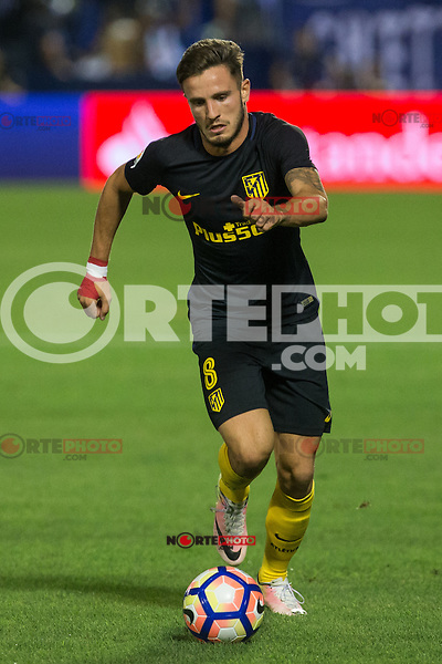 Atletico de Madrid's Saul Iniguez during the match of La Liga between Club Deportivo Leganes and Atletico de Madrid at Butarque Estadium in Leganes. August 27, 2016. (ALTERPHOTOS/Rodrigo Jimenez) /NORTEPHOTO