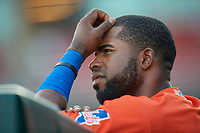 Syracuse Mets Arismendy Alcantara (10) during an International League game against the Buffalo Bisons on June 29, 2019 at Sahlen Field in Buffalo, New York.  Buffalo defeated Syracuse 9-3.  (Mike Janes/Four Seam Images)