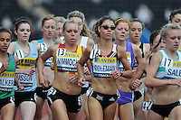 Photo: Tony Oudot/Richard Lane Photography..Aviva London Grand Prix. 25/07/2009. .women's 3000m Under 20. .Danni Nimmock and Sophie Coleman.