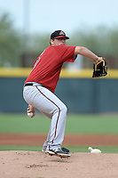 Arizona Diamondbacks pitcher Cody Reed (53) during an Instructional League game against the Los Angeles Angels on October 7, 2014 at Salt River Fields at Talking Stick in Scottsdale, Arizona.  (Mike Janes/Four Seam Images)