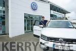 Eamonn Fitzmaurice was presented with a new VW  at Divanes of Castleisland on Friday