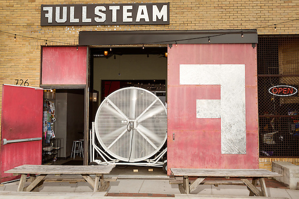 June 25, 2015. Durham, North Carolina.<br /> Fullsteam Brewery, in the Central Park District of Durham, has become a neighborhood hub for food trucks, entertainment, and those who enjoy them.