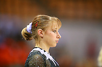 Oct 17, 2006; Aarhus, Denmark; Portrait is of Maryna Proskurina of Ukraine during women's gymnastics team competition at 2006 World Championships Artistic Gymnastics. Photo by Tom Theobald<br />