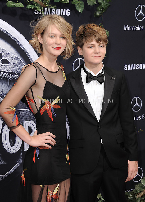 WWW.ACEPIXS.COM<br /> <br /> June 9 2015, LA<br /> <br /> Ryan Simpkins and Ty Simpkins arriving at the world premiere of 'Jurassic World' at the Dolby Theatre on June 9, 2015 in Hollywood, California. <br /> <br /> <br /> By Line: Peter West/ACE Pictures<br /> <br /> <br /> ACE Pictures, Inc.<br /> tel: 646 769 0430<br /> Email: info@acepixs.com<br /> www.acepixs.com