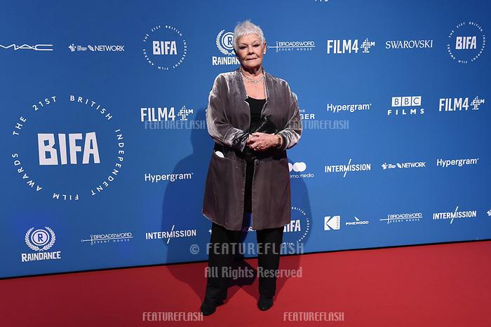 LONDON, UK. December 02, 2018: Dame Judi Dench at the British Independent Film Awards 2018 at Old Billingsgate, London.<br /> Picture: Steve Vas/Featureflash
