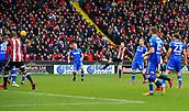10th February 2018, Bramall Lane, Sheffield, England; EFL Championship football, Sheffield United versus Leeds United; Mark Duffy of Sheffield United fires a long range shot at goal