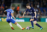 Ben Davies of Tottenham takes on Anthony Kockaert of Brighton during the premier league match at the Amex Stadium, London. Picture date 17th April 2018. Picture credit should read: David Klein/Sportimage