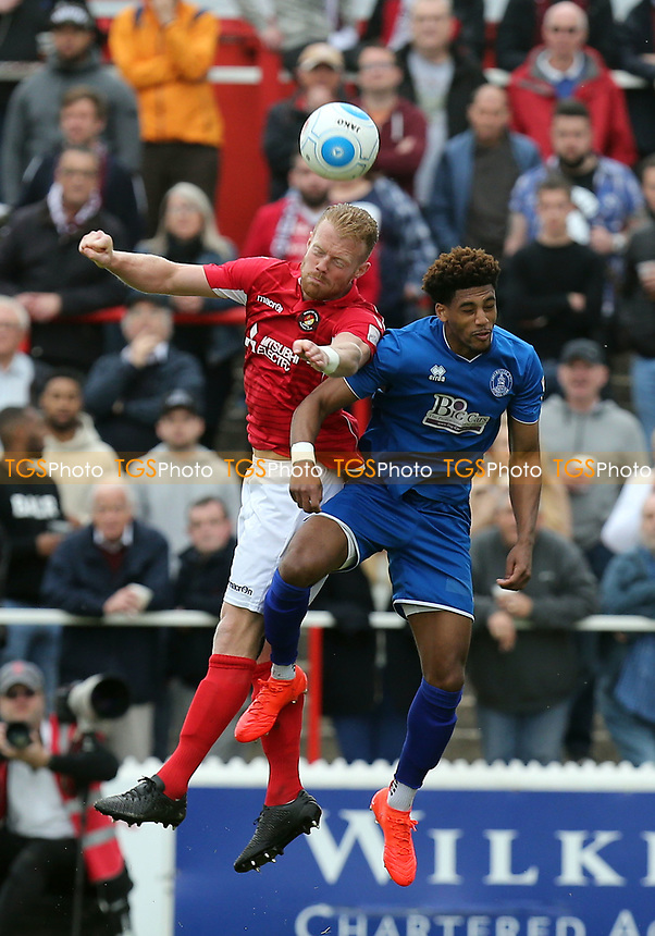 Kenny Clark of Ebbsfleet United and Shaun Jeffers of Chelmsford City during Ebbsfleet United vs Chelmsford City, Vanarama National League South Play-Off Final Football at The PHB Stadium on 13th May 2017