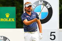 Victor Dubuisson at the 5th tee during the BMW PGA Golf Championship at Wentworth Golf Course, Wentworth Drive, Virginia Water, England on 28 May 2017. Photo by Steve McCarthy/PRiME Media Images.