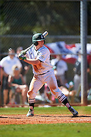 Eastern Michigan Eagles catcher Jeremy Stidham (50) at bat during a game against the Dartmouth Big Green on February 25, 2017 at North Charlotte Regional Park in Port Charlotte, Florida.  Dartmouth defeated Eastern Michigan 8-4.  (Mike Janes/Four Seam Images)