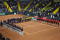 BOGOTÁ - COLOMBIA, 01-02-2019:Ceremonia de apertura de la primera ronda Qualifier de La Copa Davis por BNP Paribas 2019 entre Colombia y Suecia buscando un cupo para las finales en Madriid.  Palacio de los Deportes de la capital./Opening ceremony of the first round Qualifier of the Davis Cup by BNP Paribas 2019 between Colombia and Sweden looking for a place for the finals in Madrid. Palace of Sports of the capital. Photo: VizzorImage / Felipe Caicedo / Staff.