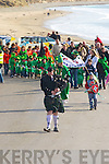 the Ballyheigue St Patrick's Day parade on a sunny Monday