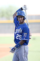 Carlos Garcia - Kansas City Royals - 2010 Instructional League.Photo by:  Bill Mitchell/Four Seam Images..